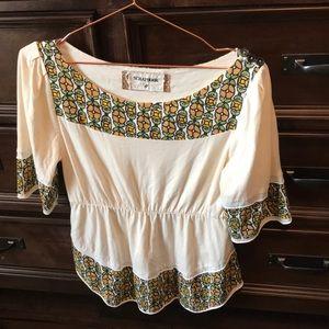 Scrapbook cream blouse